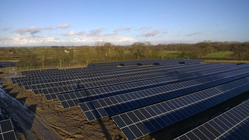 Signposting the future Solar farm owned by Telford & Wrekin Council and operational since 2014. Photo credit Telford & Wrekin Council.
